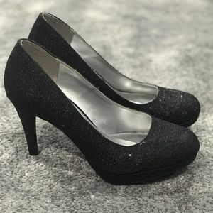 Shoes - Sparkly/Glittery Black Heels
